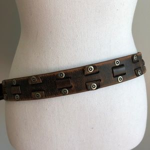 Fossil | Brown Belt with Metal Embellishments